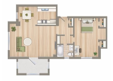 854-Square-Foot-One-Bedroom-Apartment-Floorplan-Available-For-Rent-2800-Woodley-Road